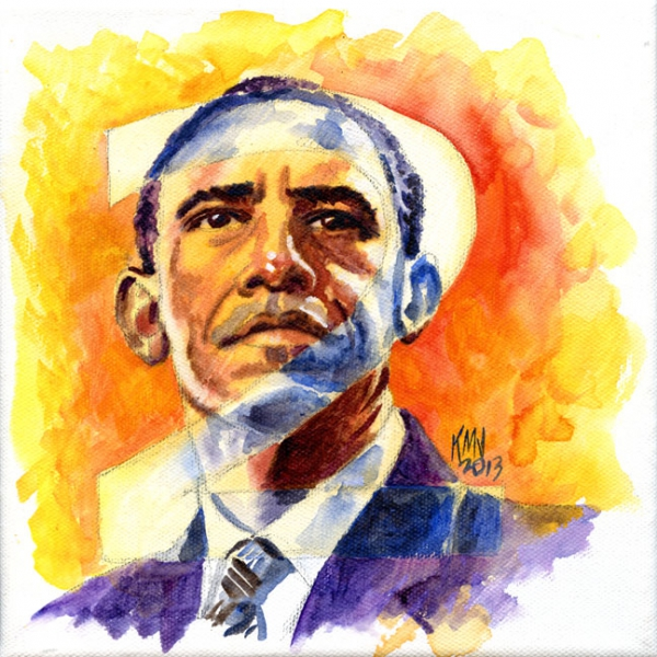 Barack Obama by kenmeyerjr
